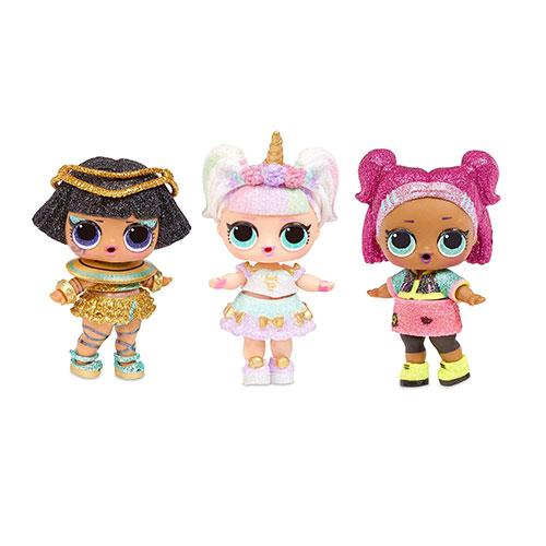 3 muñecas LOL Surprise Serie Sparkle