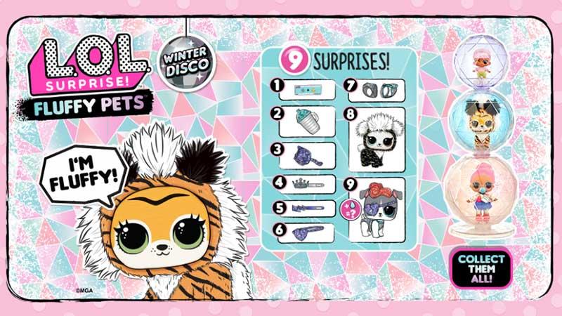 LOL Surprise Winter Disco Fluffy Pets