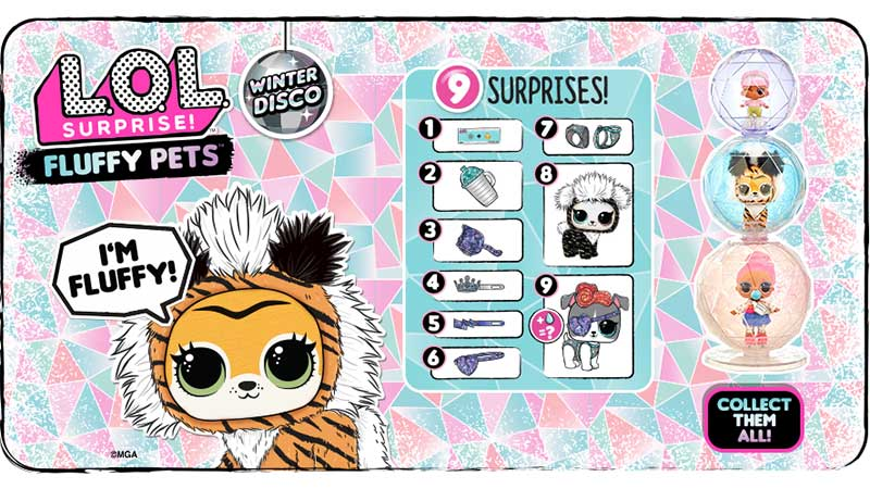 LOL Surprise Winter Disco Fluffy Pets