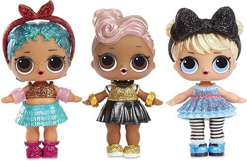 3 muñecas Glam Glitter