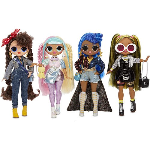 The 4 LOL OMG dolls of the series 2