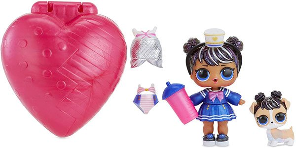 muñeca y mascota, bubbly rosa