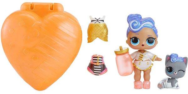muñeca y mascota, bubbly naranja